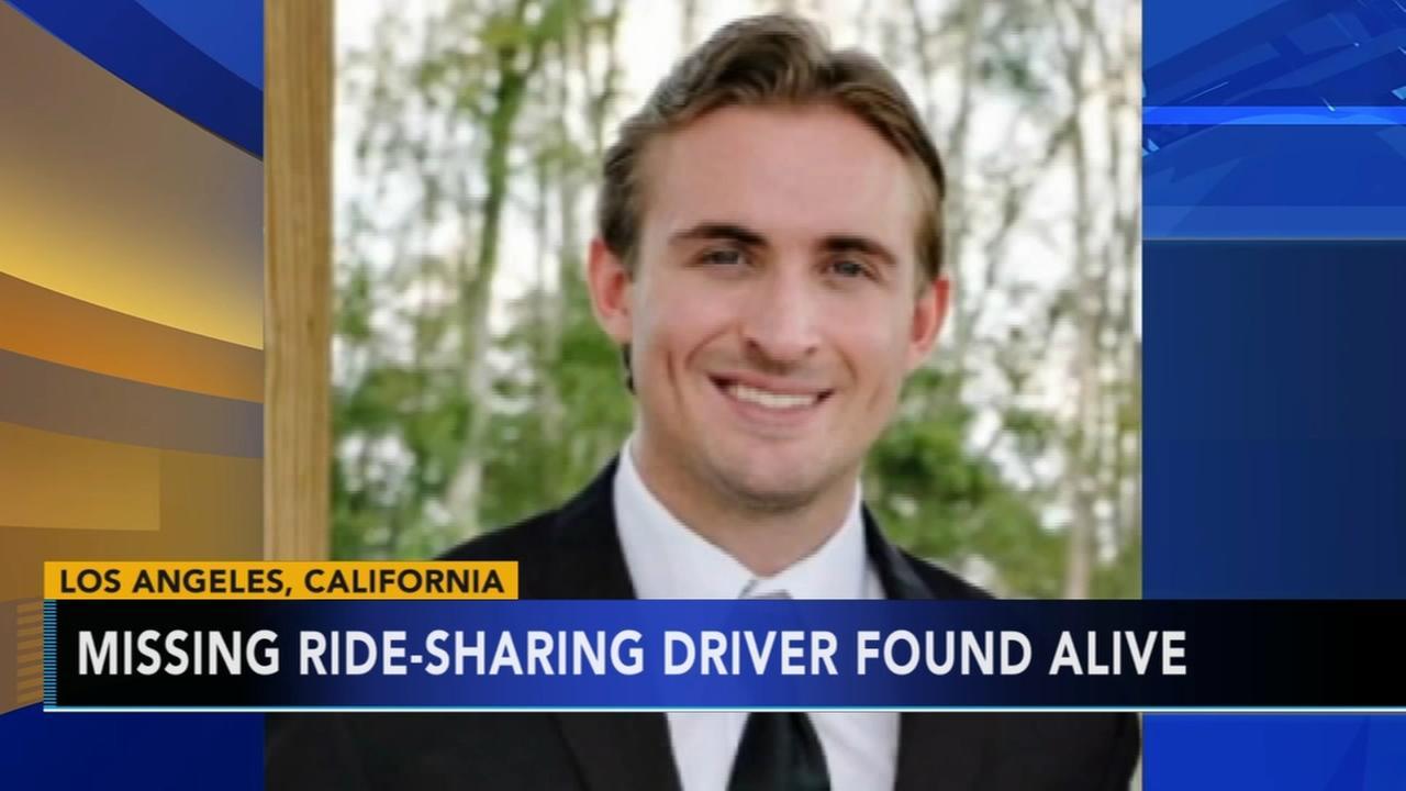 Missing Uber, Lyft driver found alive