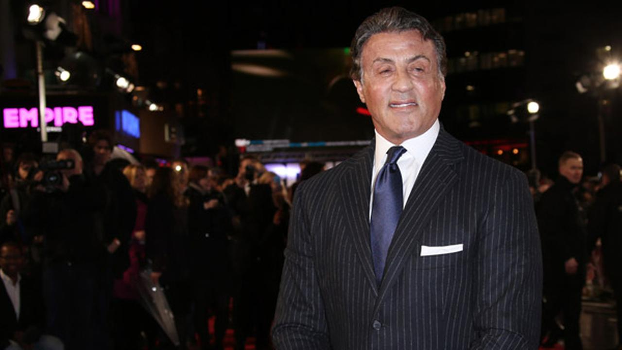 Sylvester Stallone poses for photographers upon arrival at the premiere of the film Creed in London, Tuesday, Jan. 12, 2016.