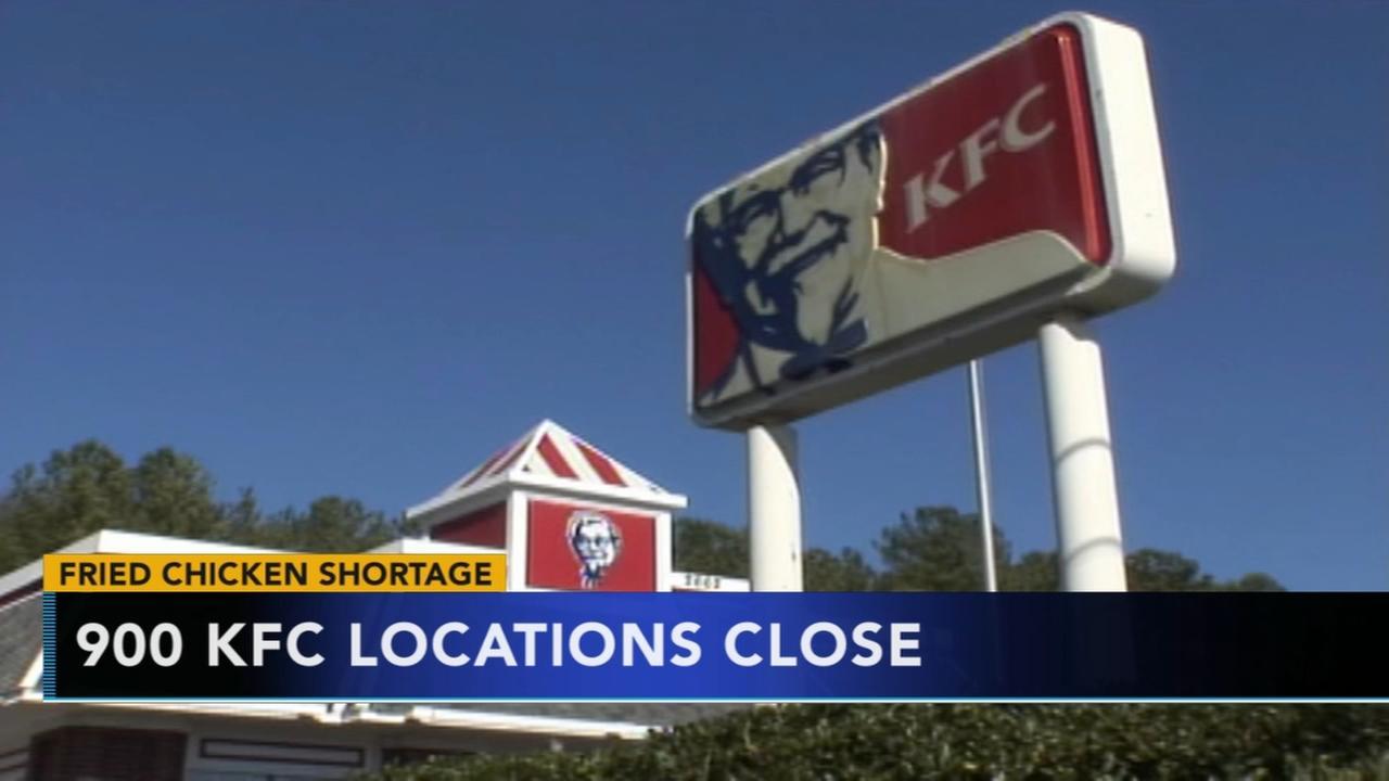 KFC closings 900 locations because of no chicken