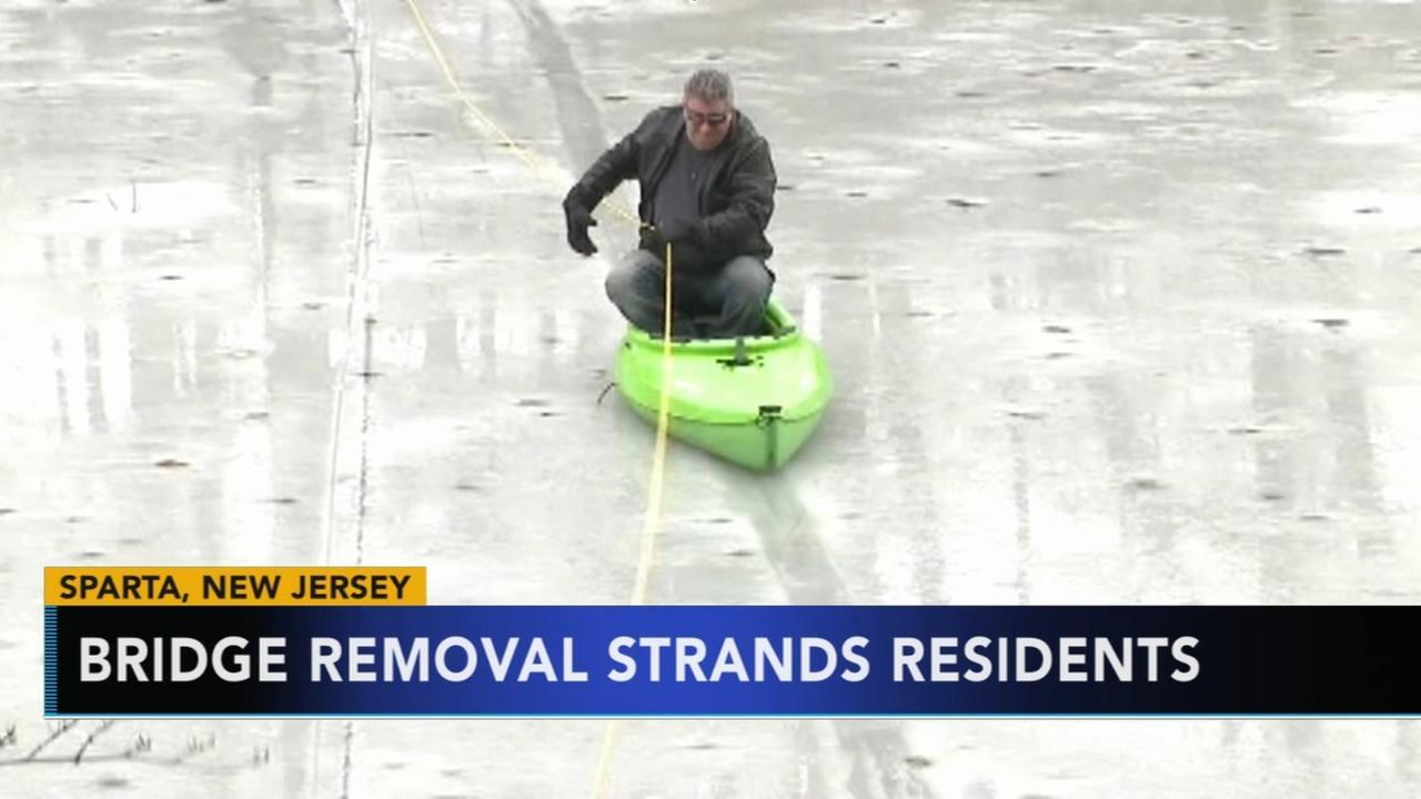 Bridge removal strands residents