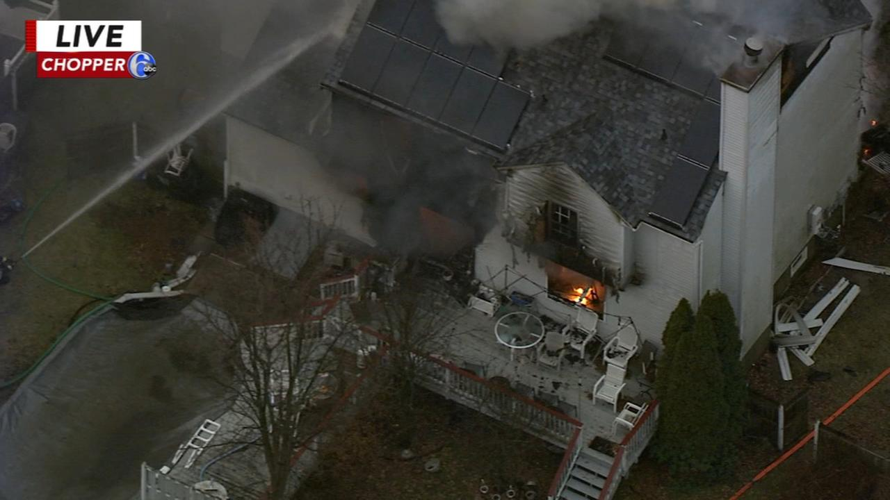 House fire in Burlington, NJ