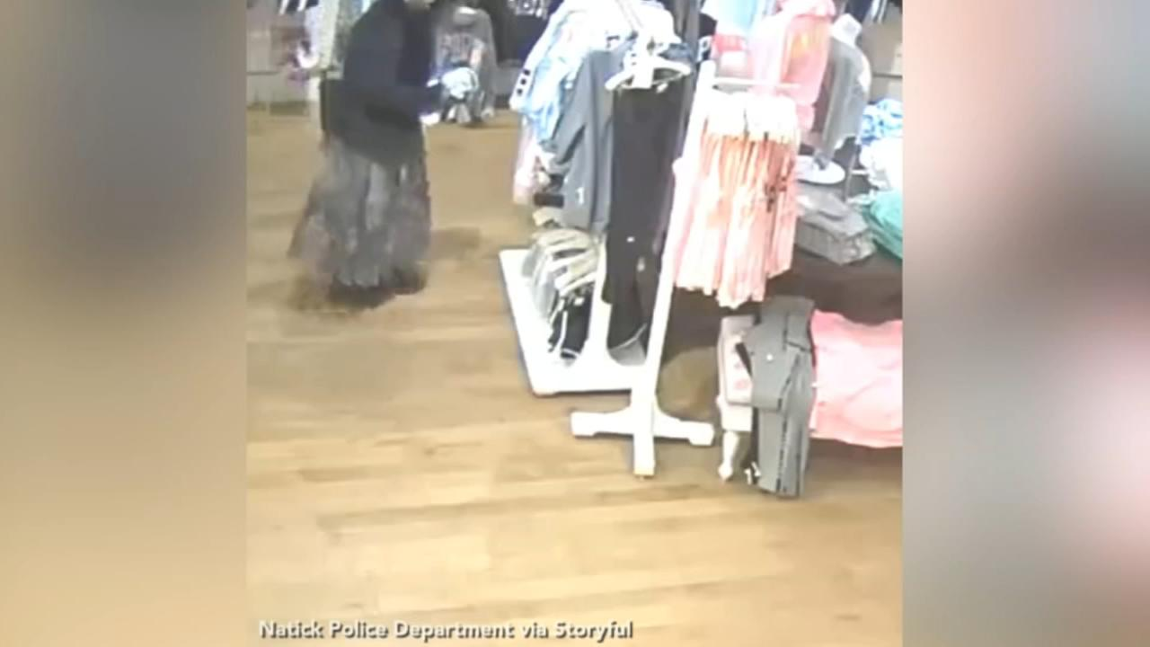 Massachusetts shoplifting suspects stuff clothes between legs