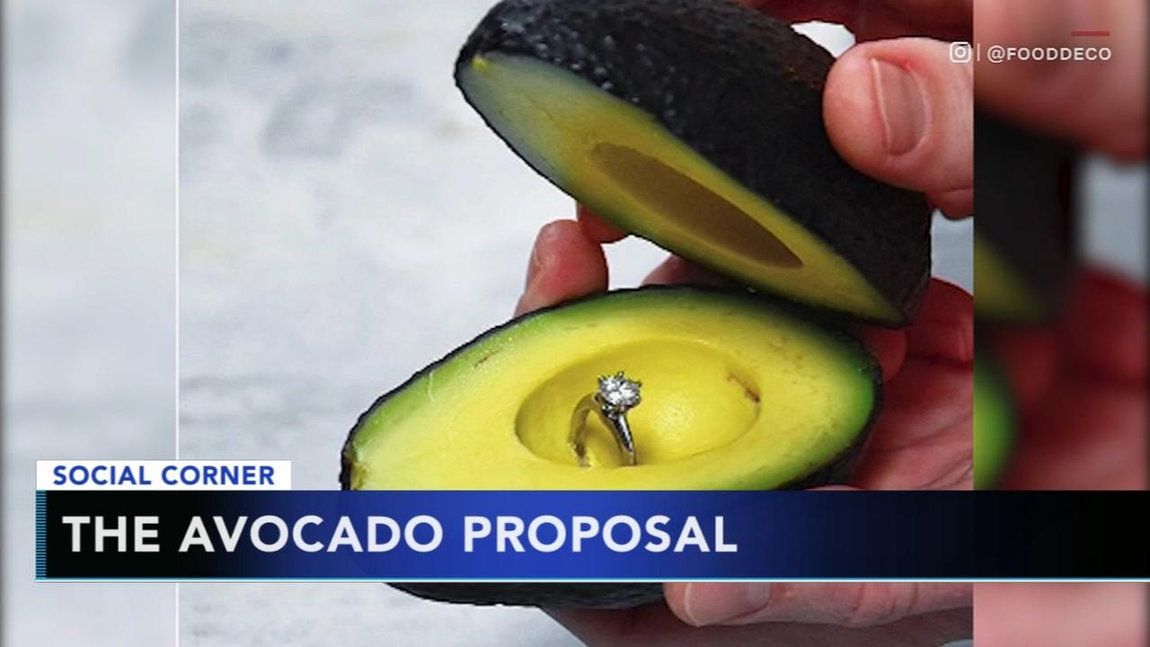 New trend uses avocados for propsals