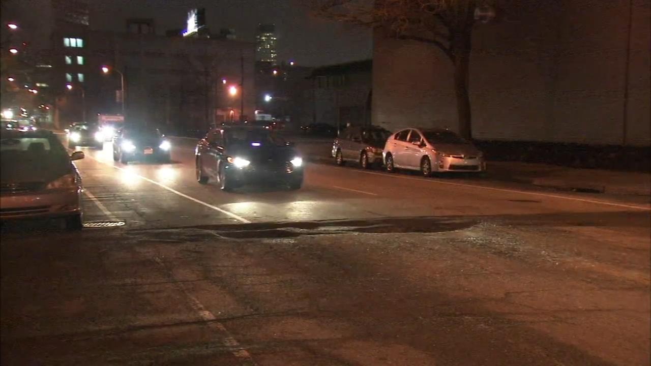Giant pothole causing damage to cars on Fifth Street