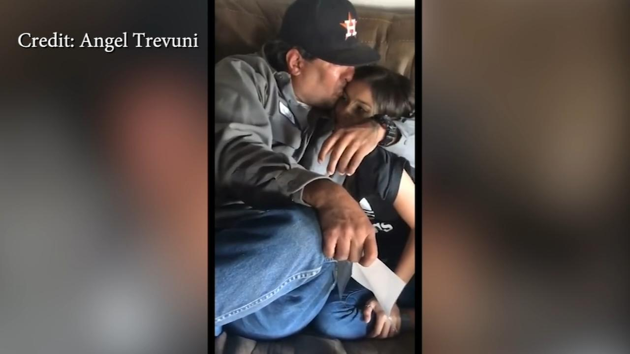 Daughter surprises step-dad with adoption news
