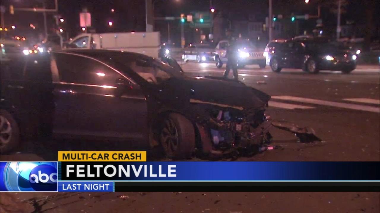 Multi-vehicle crash on Roosevelt Boulevard