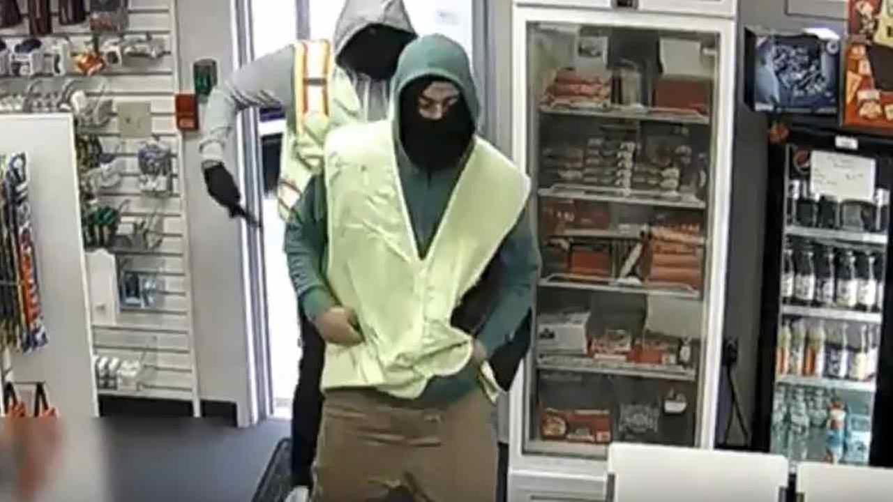 Pharmacy robbers caught on camera in North Philadelphia