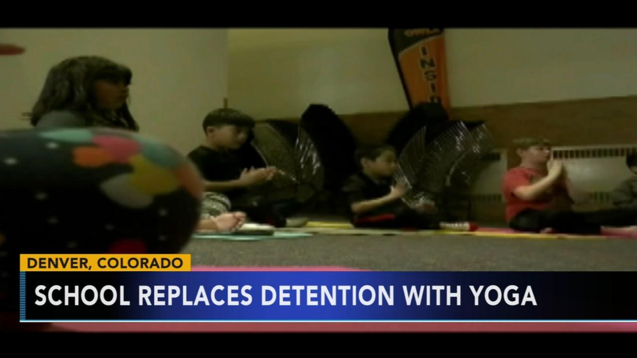 School replaces detention with yoga