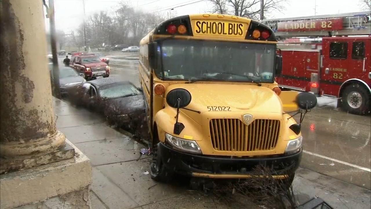School bus involved in crash in Chester, Pa.