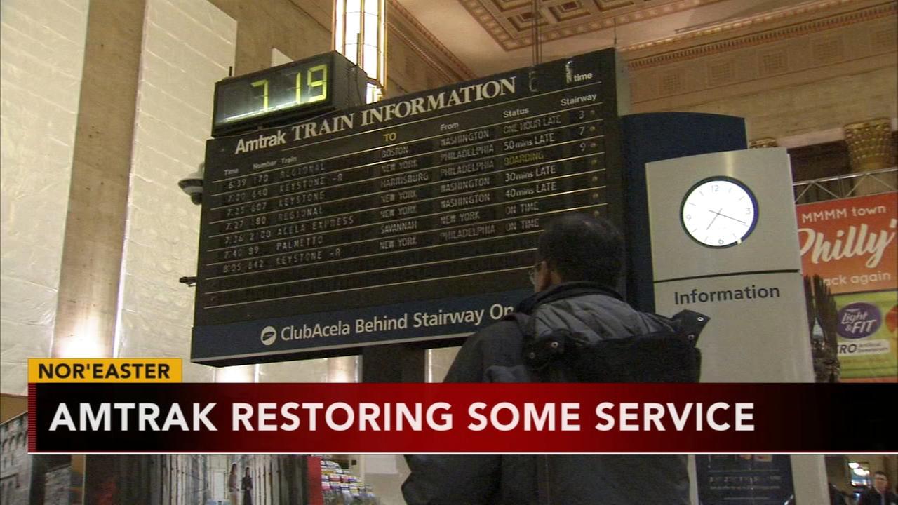 Amtrak begins restoring service following noreaster