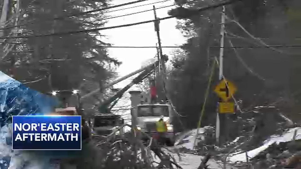 Warming stations set up for Pa. residents without power