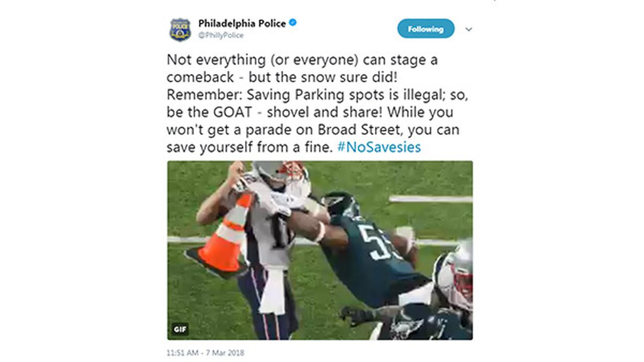 Philly police latest 'No Savesies'  post is championship worthy