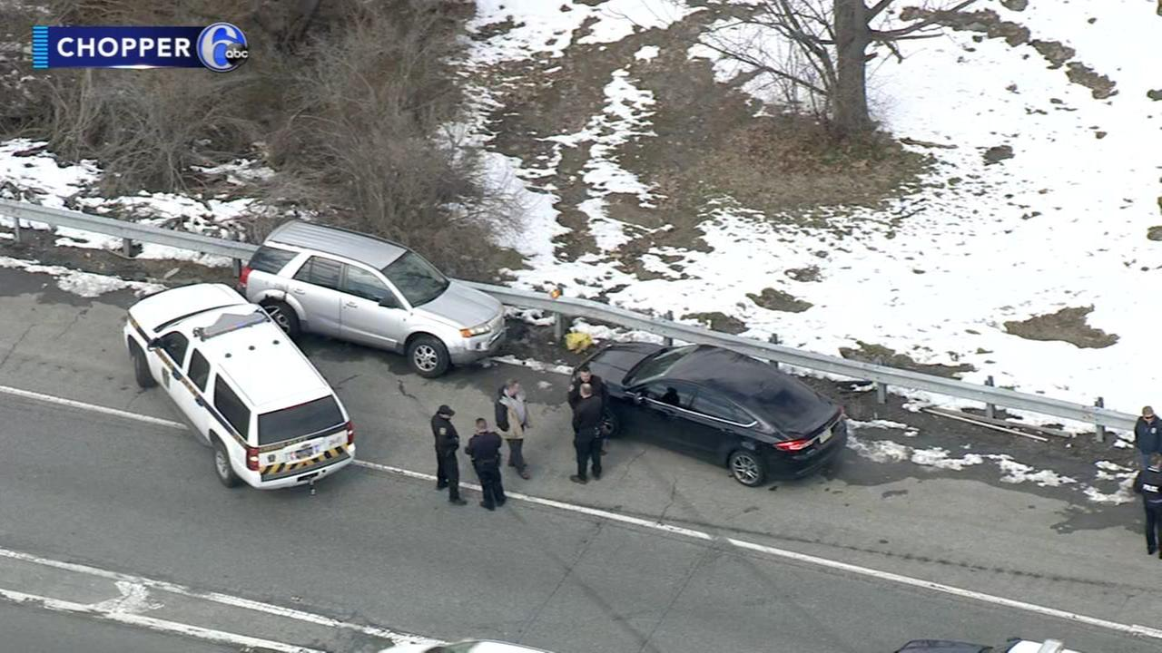 Police chase ends in crash on I-95