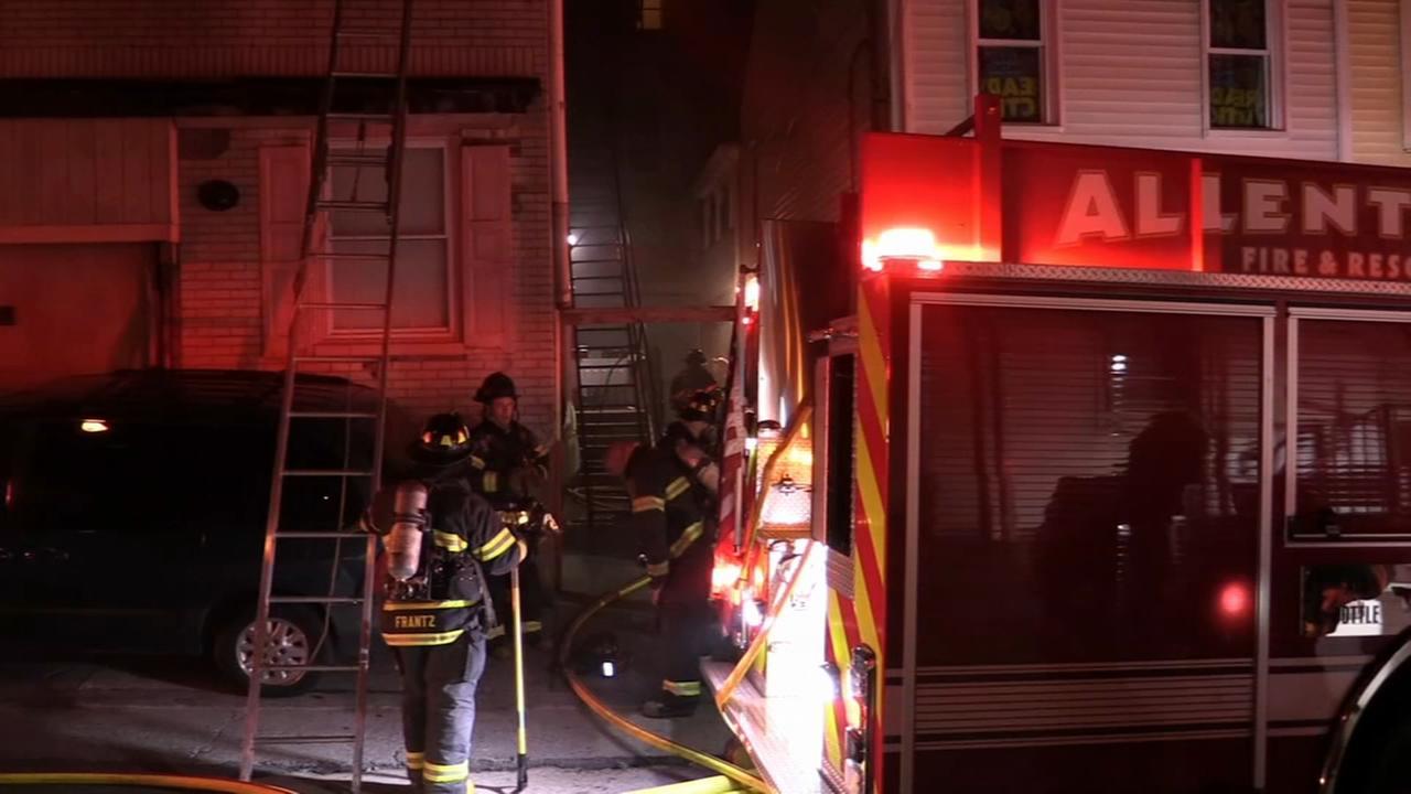 Firefighters battle multi-alarm building blaze in Allentown