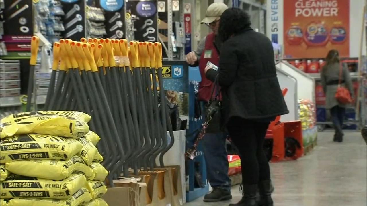 Shoppers search for salt, shovels among spring offerings