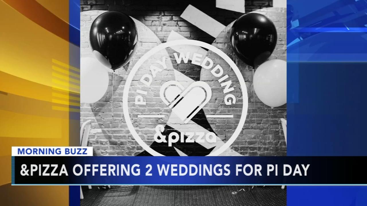 Local pizza shop offering 2 weddings for Pi Day