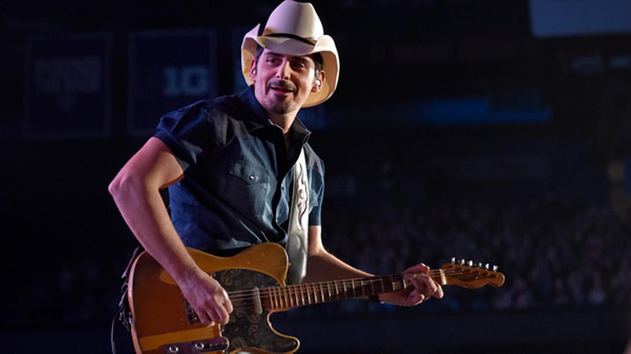 Brad Paisley performs during his Weekend Worrior World Tour at the Allstate Arena on Saturday, Feb 24, 2018, in Rosemont, IL.