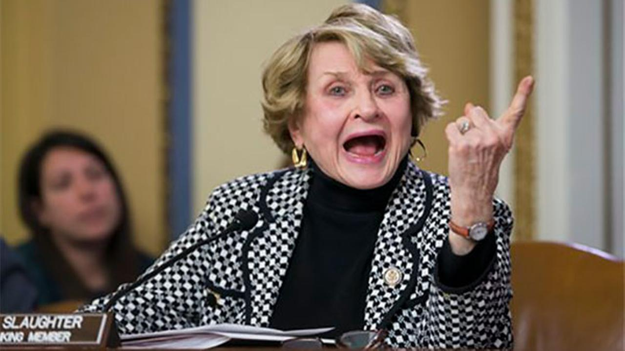 FILE - In this Jan. 5, 2016 file photo, Rep. Louise Slaughter, D-N.Y. speaks on Capitol Hill in Washington.