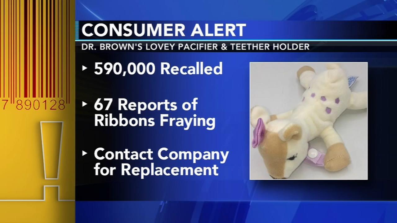 Popular pacifier holders recalled due to choking hazard