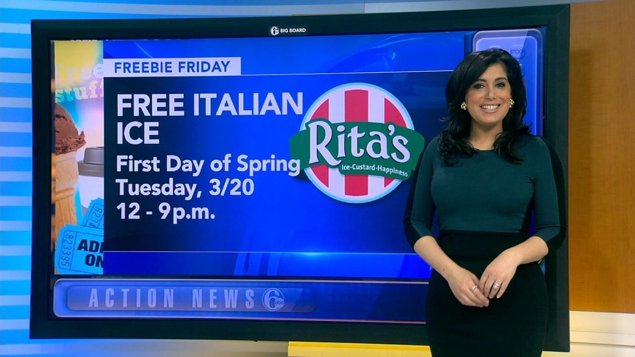 Freebie Friday: Water ice, ice cream, milkshakes and more!