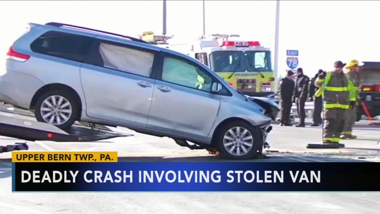 Deadly crash involving stolen minivan in Upper Bern Township