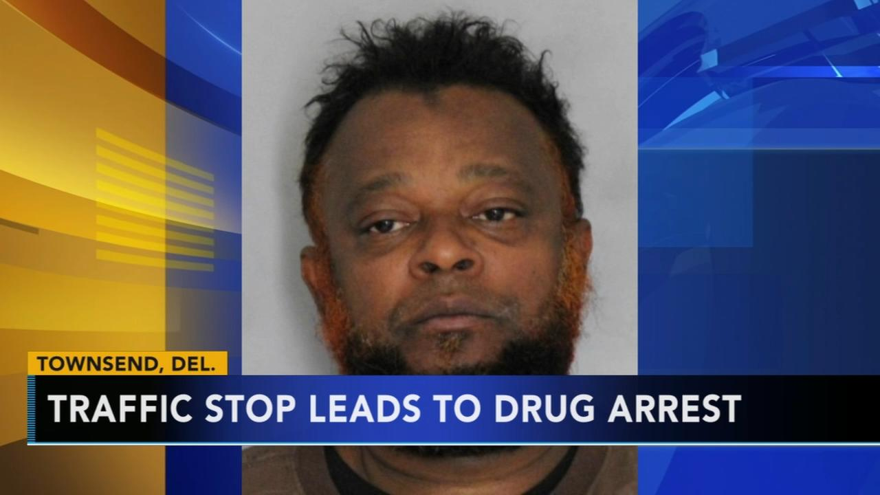 Traffic stop leads to drug arrest in Townsend, Delaware