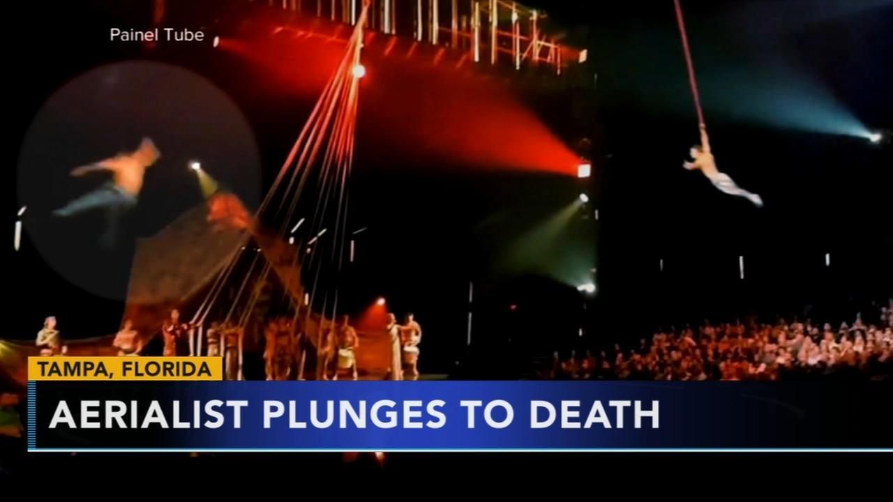 Cirque du Soleil performer dies after fall