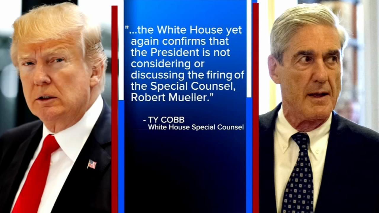 White House says Trump isnt considering firing Mueller