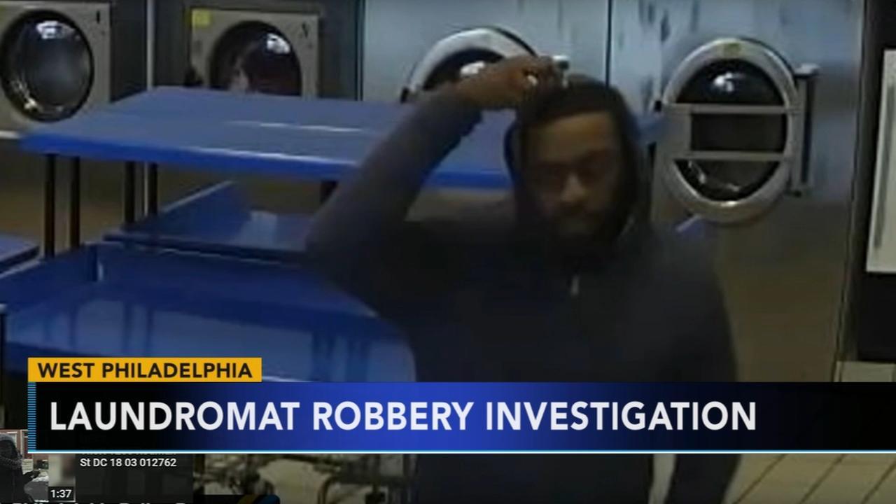 Laudromat robbery caught on camera