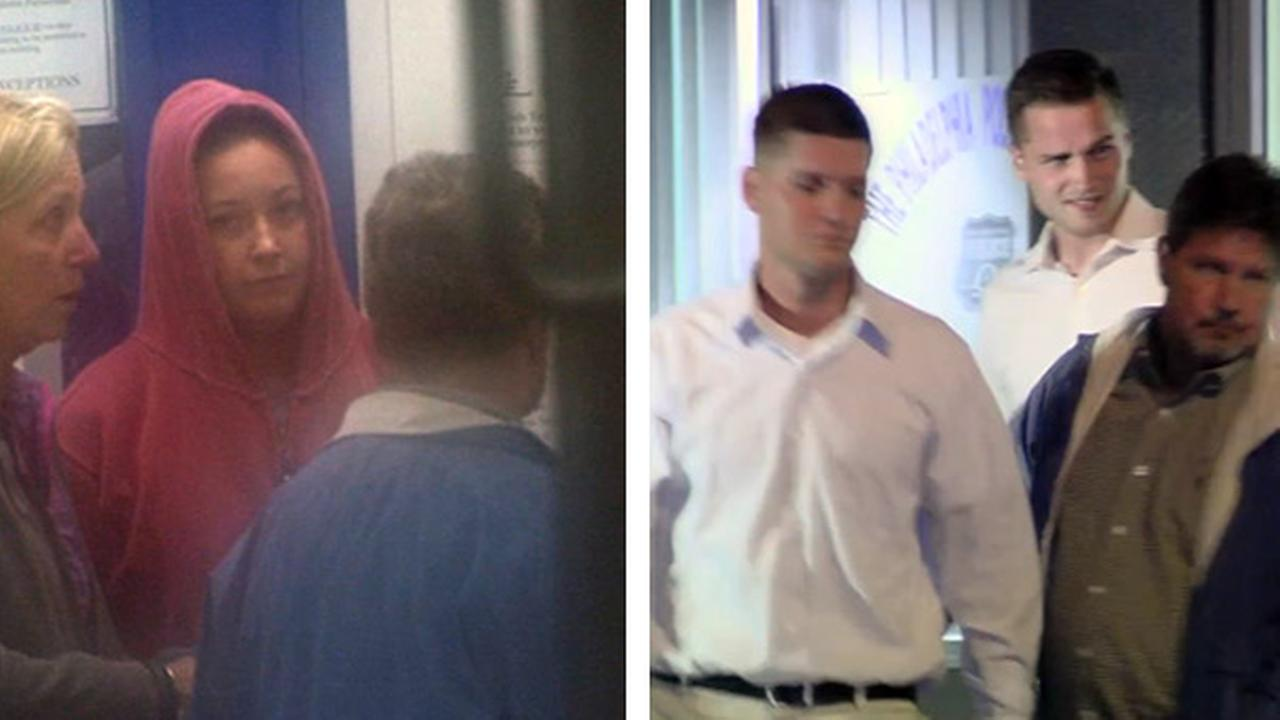 The Action Cam was there as 24-year-old Kathryn Knott, 26-year-old Kevin Harrigan, and 24-year-old Philip Williams left Philadelphia Police Central Detectives in Spring Garden.
