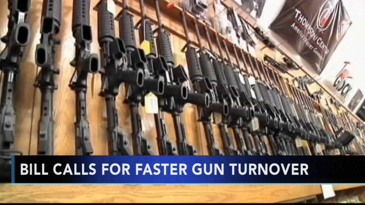 Bill calls for faster gun turnover