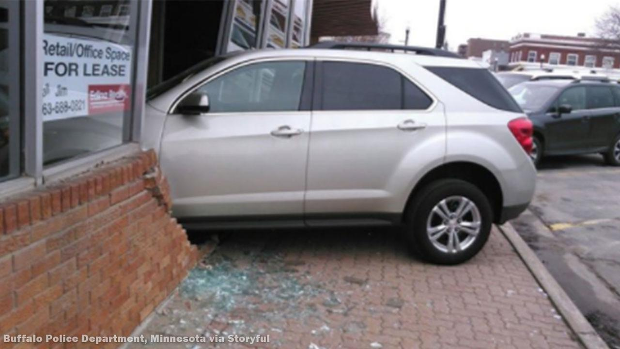 A teenager in Buffalo, Minnesota drove her car into a building while taking her driving test.