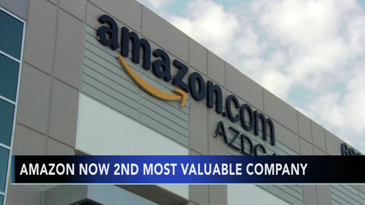 Amazon tops Google as second most valuable company in US