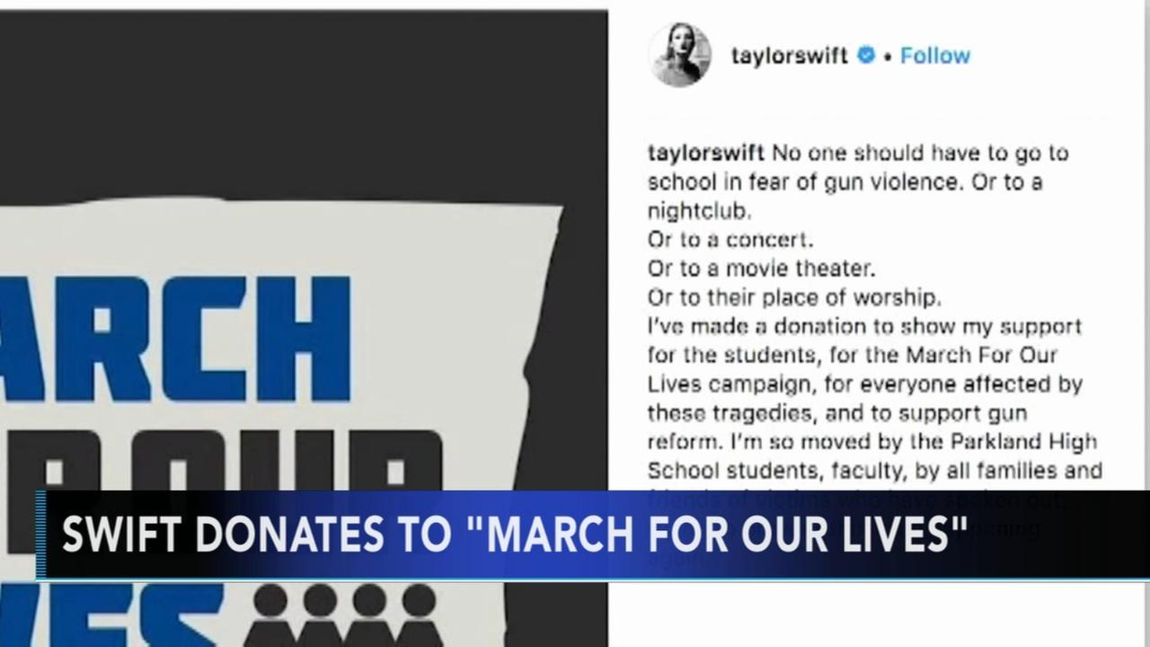 Taylor Swift makes donation in support of the March for Our Lives