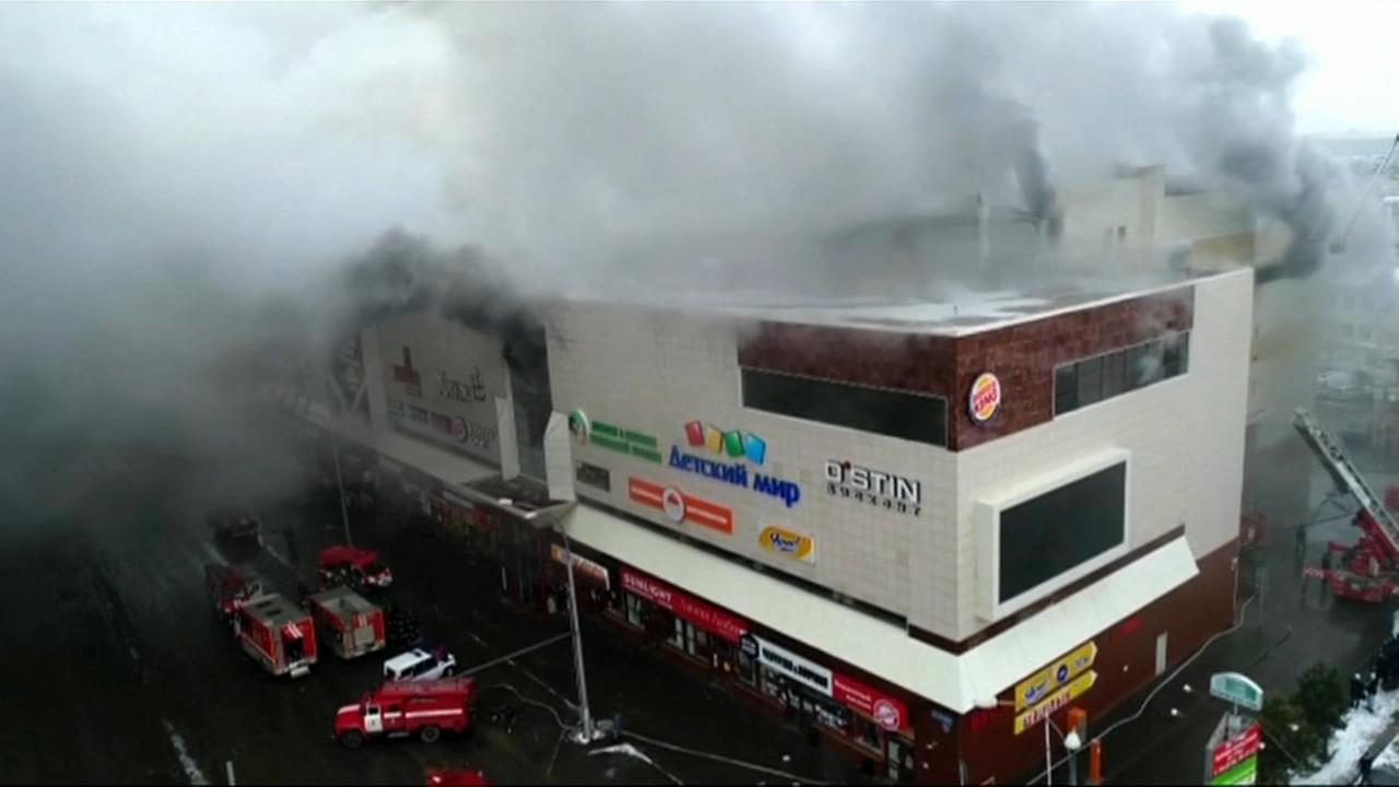 At least 64 dead in Russia mall fire
