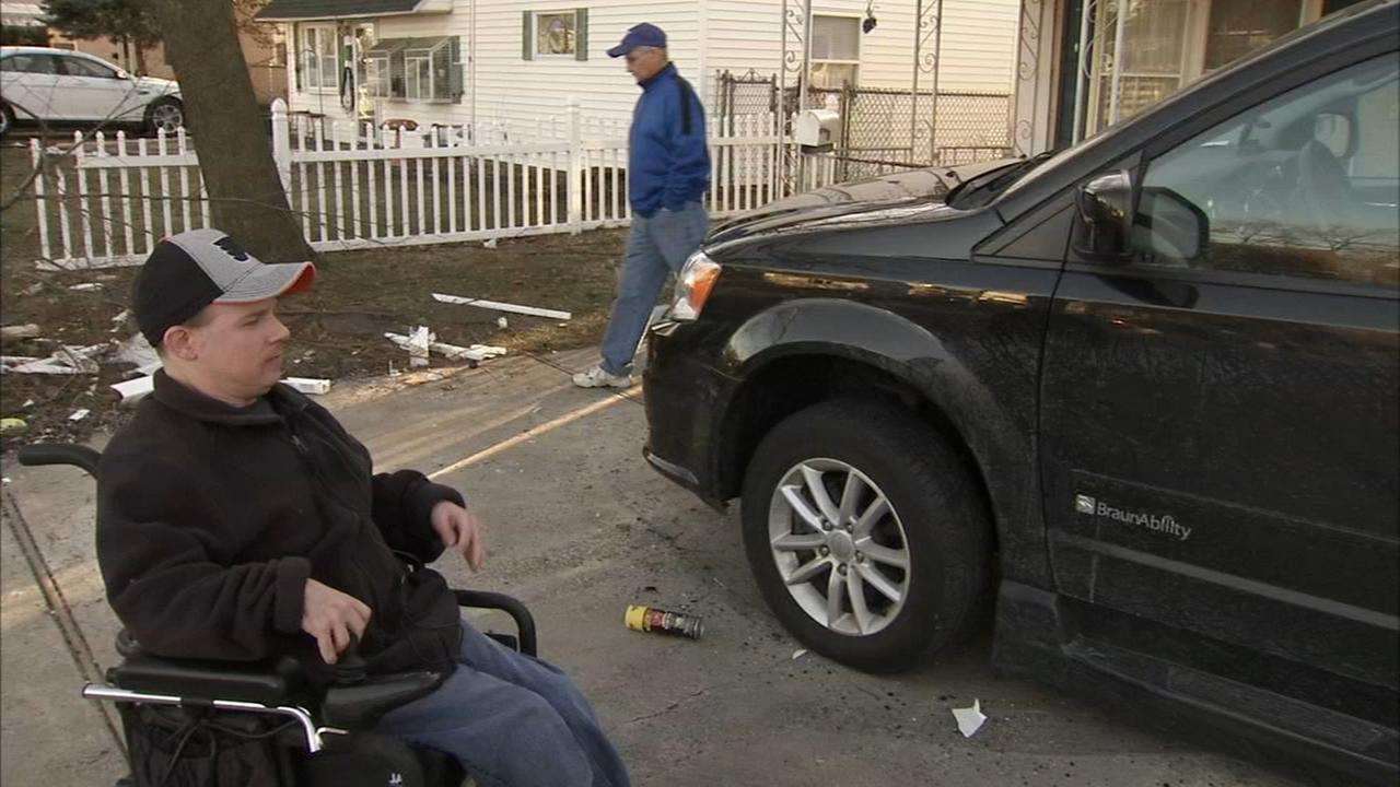 Hit-and-run driver smashes into wheelchair accessible van