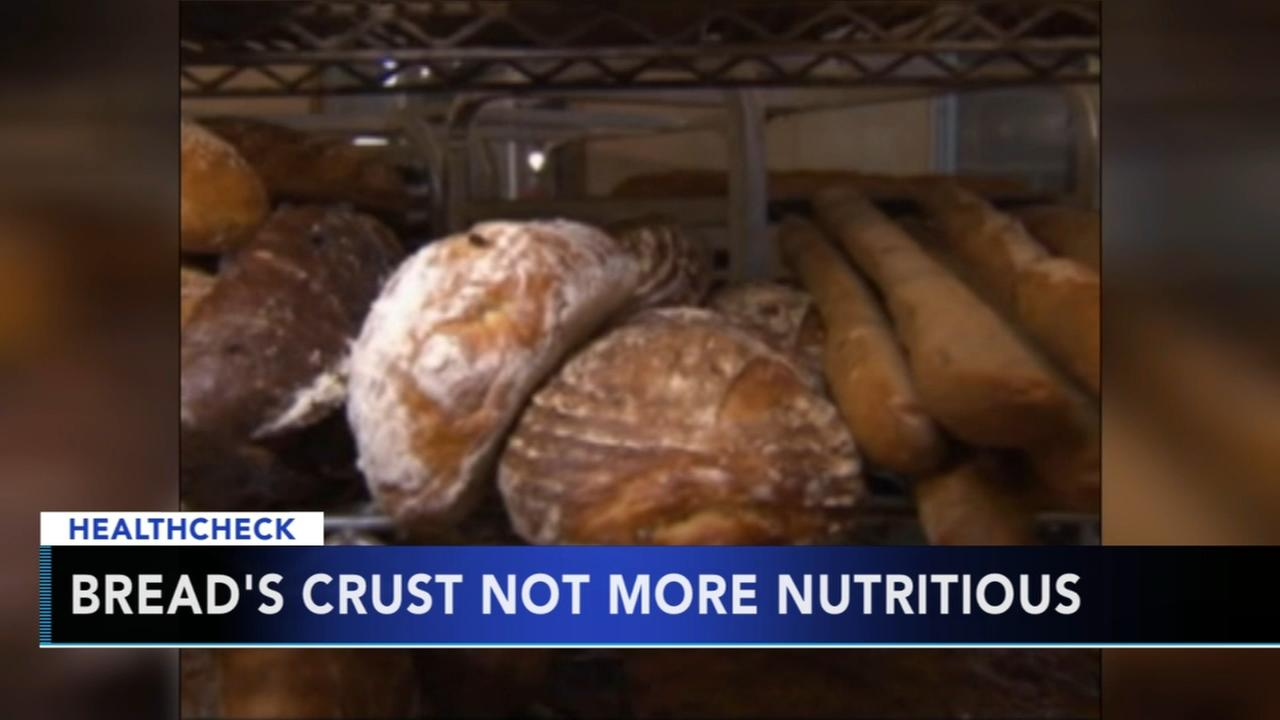 Expert: Breads crust not more nutritious