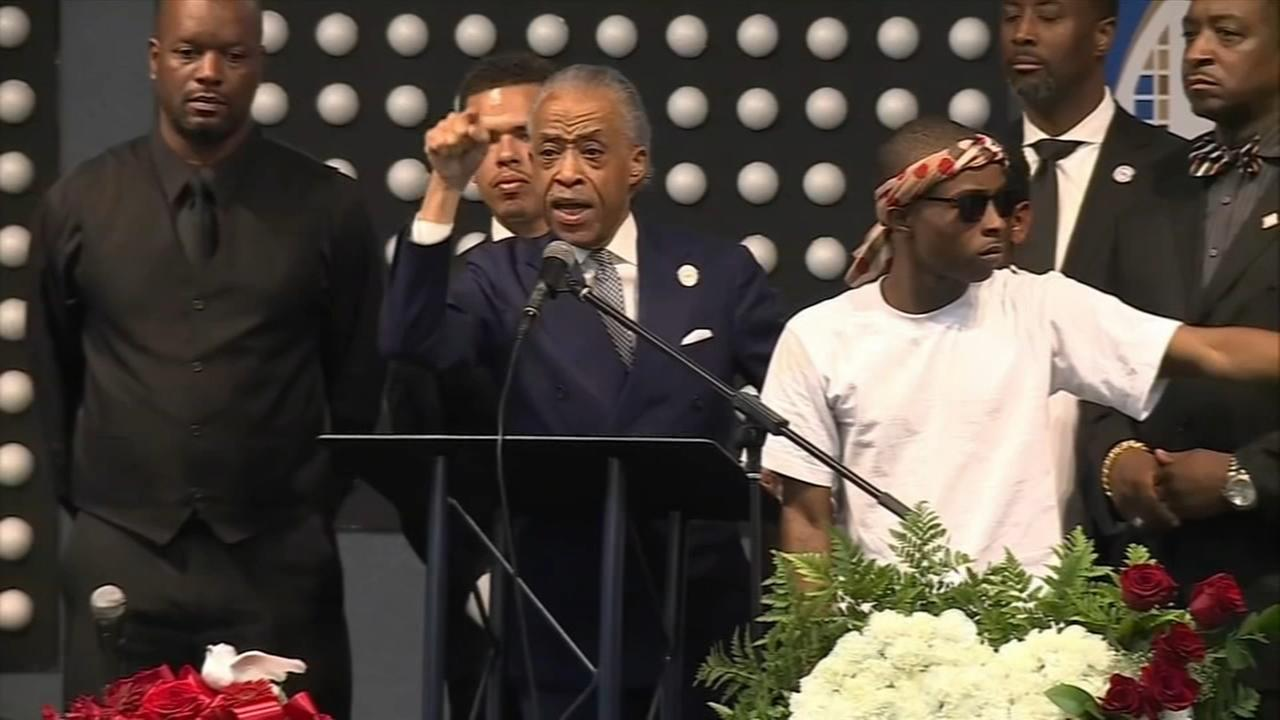 Emotional plea at Sacramento funeral to end police killings