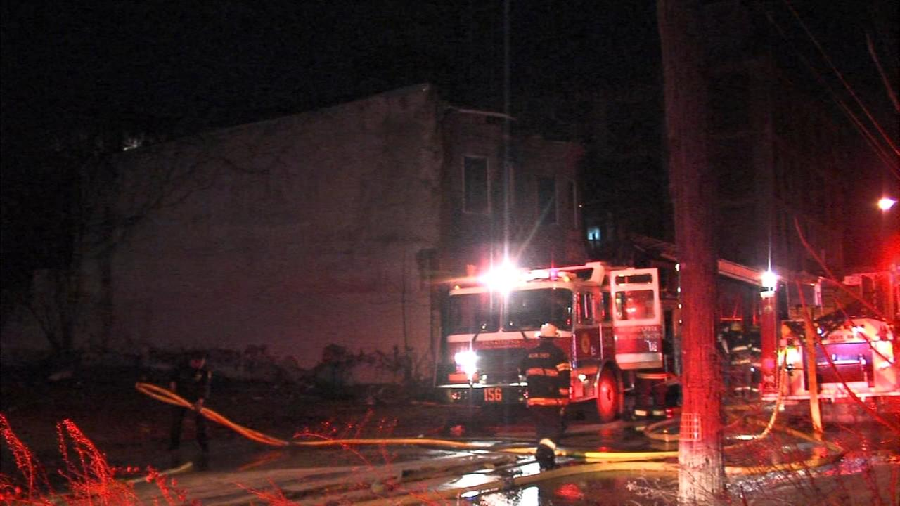 Firefighters battle Tioga house fire