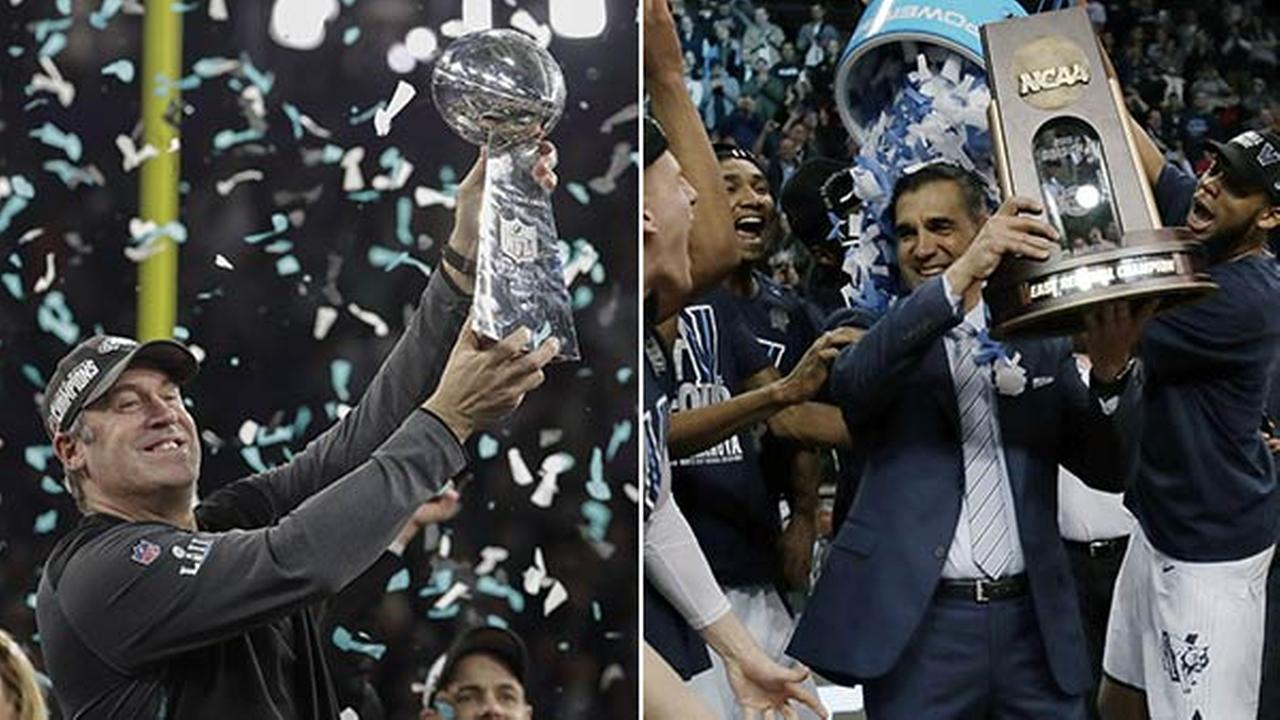 City of Champions: Eagles congratulate Villanova on title win
