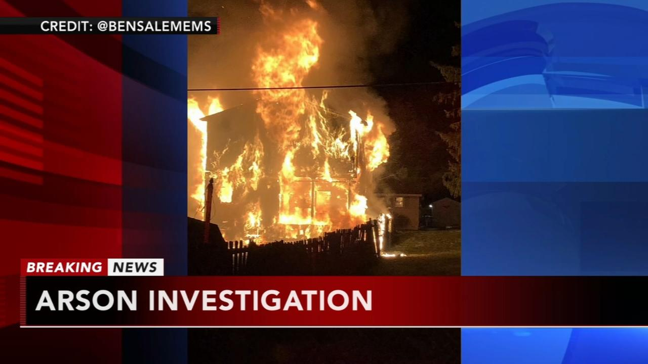 Arson investigation in Trevose, Bucks County