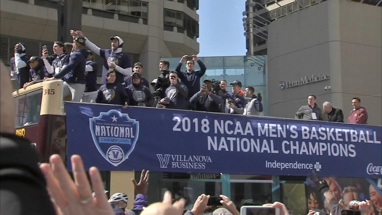 Villanova honored with championship parade in Philly