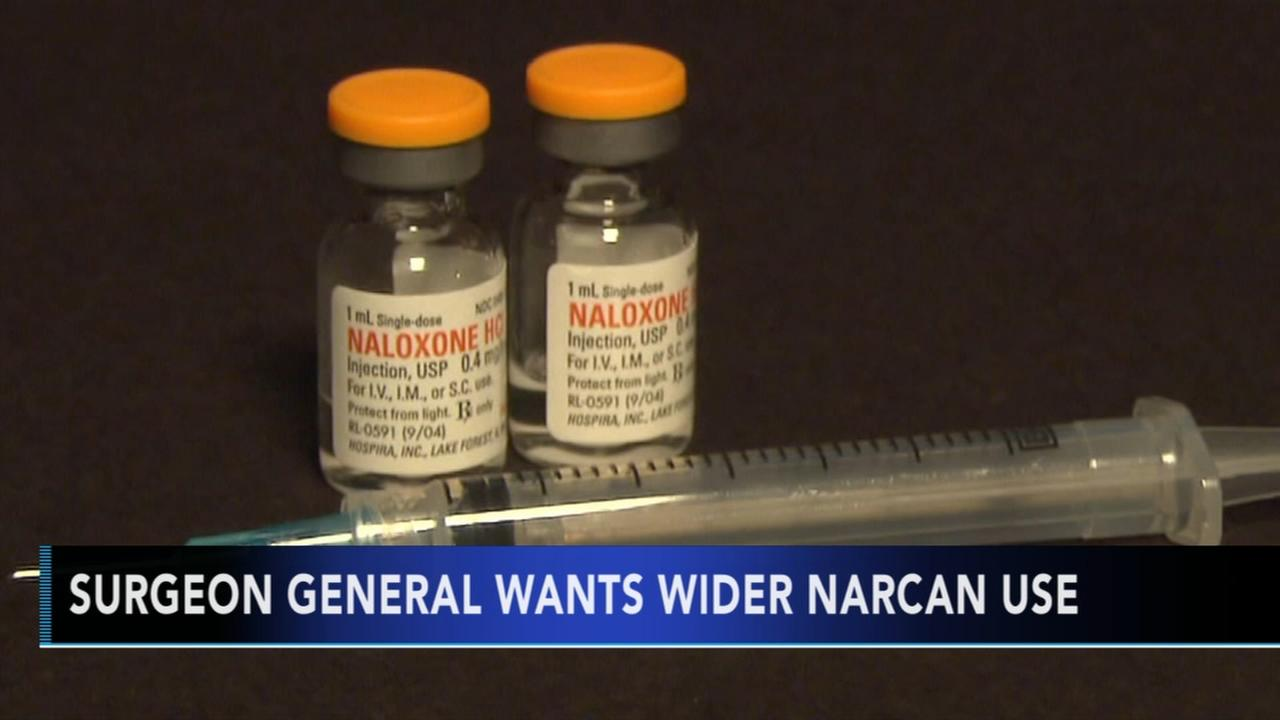 Surgeon General urges wider access to overdose antidote Narcan