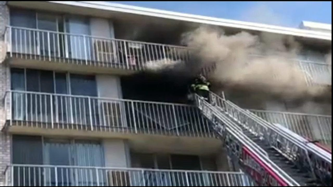 3-alarm fire damages condo in Cherry Hill