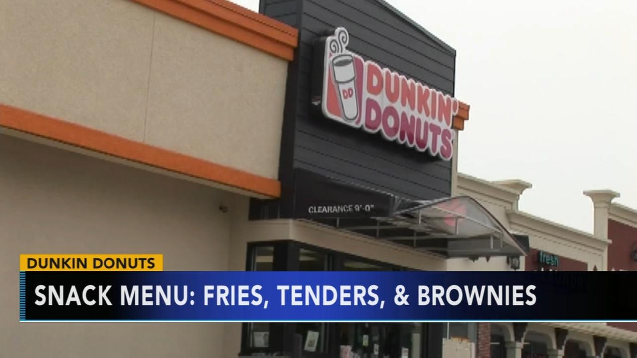 Dunkin Donuts selling fries, pretzels and chicken tenders