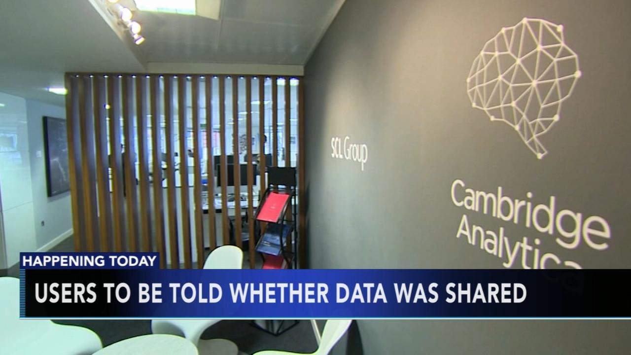 Facebook to send Cambridge Analytica data-use notices Monday