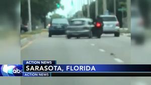 VIDEO: Driver slams into motorcyclist in Florida road rage crash