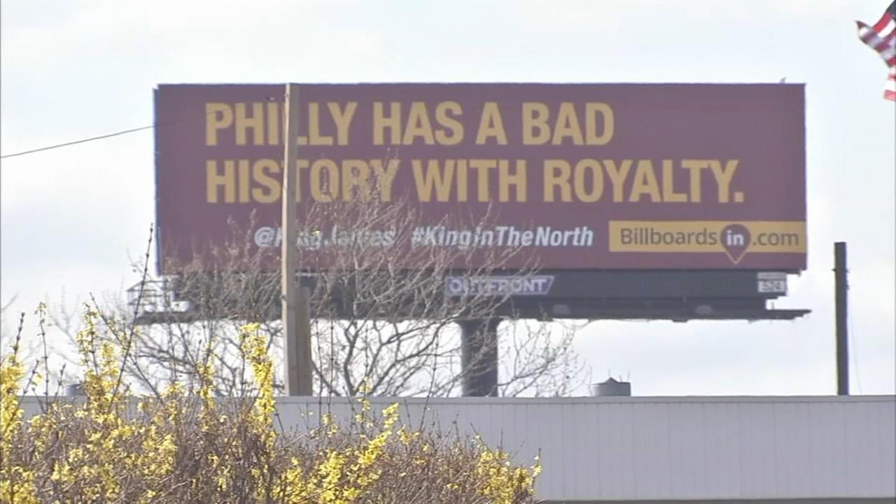 LeBron James billboards pop up in South Philly