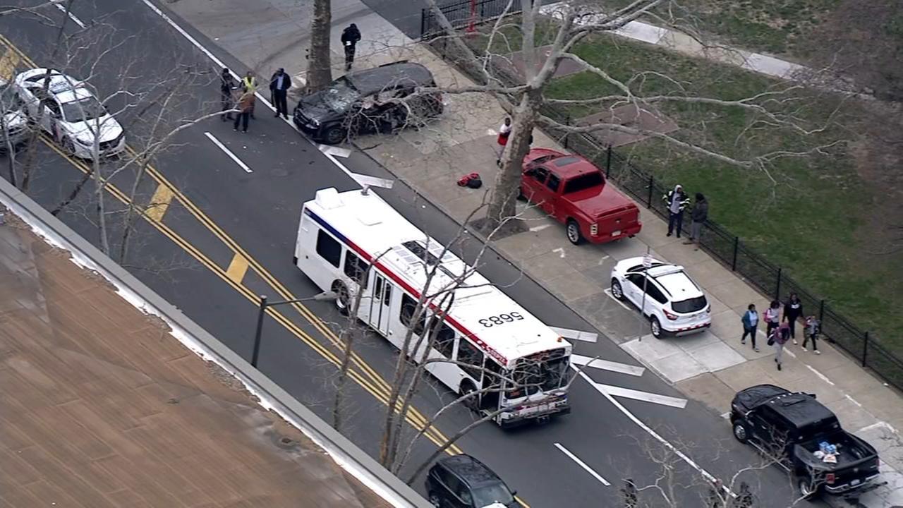 RAW VIDEO: SEPTA bus crash