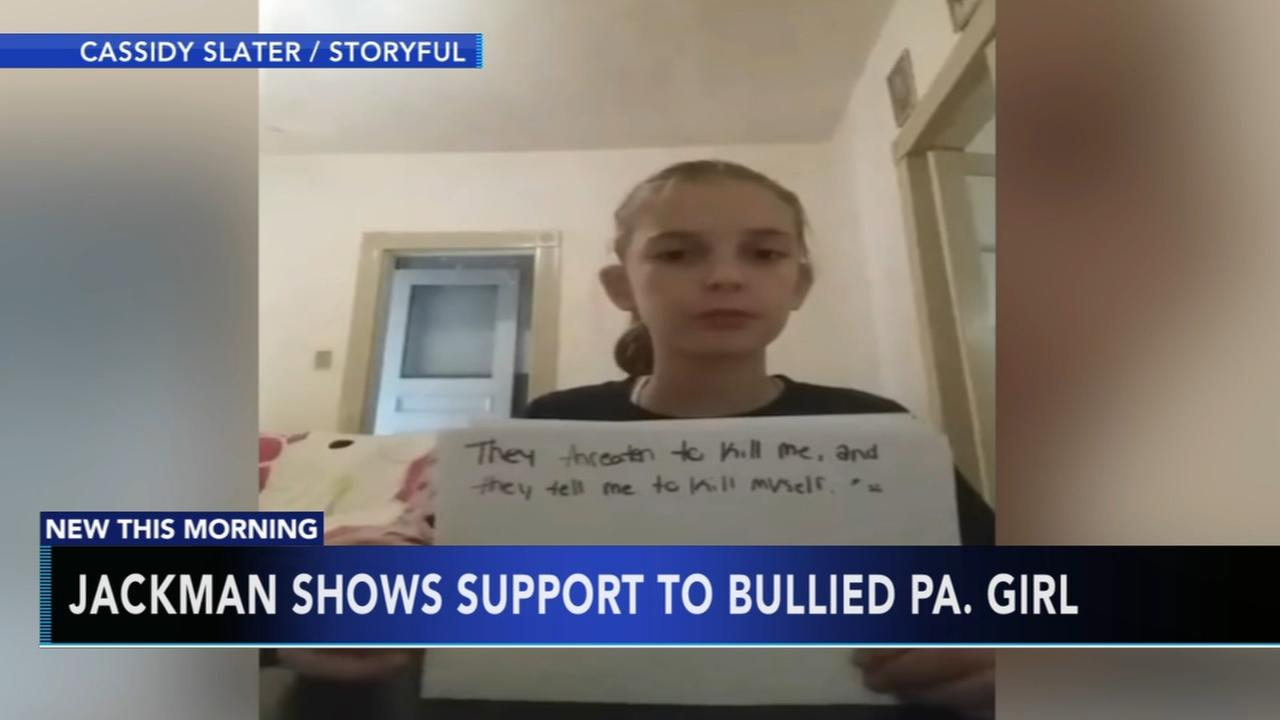 Jackman shows support to bullied Pa. girl